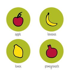 Doodle fruits vector
