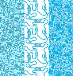 Marine seamless texture vector image