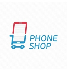 Phone shop logo vector