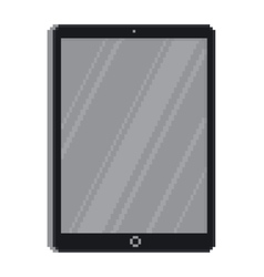 Pixel art style tablet gadget isolated vector image vector image