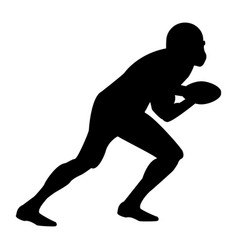 american football player the black color icon vector image vector image