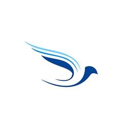 Bird fly abstract aviation logo vector