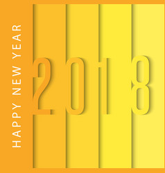 happy new year 2018 calendar cover design vector image vector image