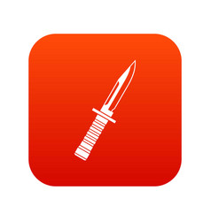 military knife icon digital red vector image vector image