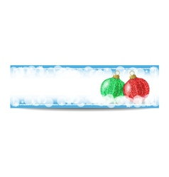 New year banner template with christmas ball and vector