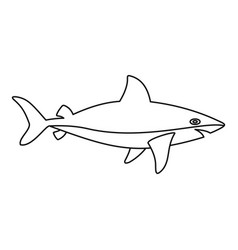 shark icon outline style vector image vector image