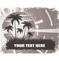 summer grunge background with palm trees vector image vector image