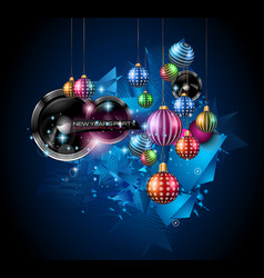 Christmas Party Flyer for music night events club vector image vector image