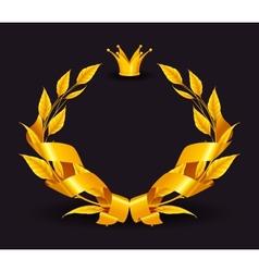 Design Element Emblem gold vector image vector image