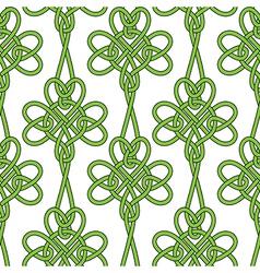Seamless flower shamrock clover leaves vector image vector image