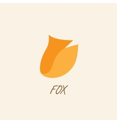 Stylized silhouette of fox on a light background vector image vector image