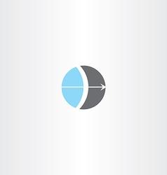 bow and arrow circle logo vector image