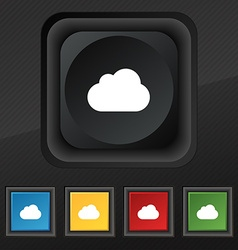 cloud icon symbol Set of five colorful stylish vector image vector image