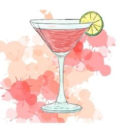 Cosmopolitan cocktail vector image vector image