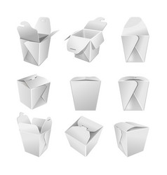 packaging blank paper bags open and close on white vector image vector image