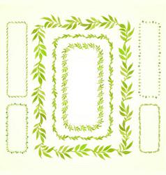 set watercolor frame vector image vector image