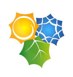 symbol air conditioner eco vector image vector image