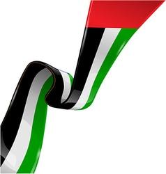 united arab emirates ribbon flag on white vector image vector image