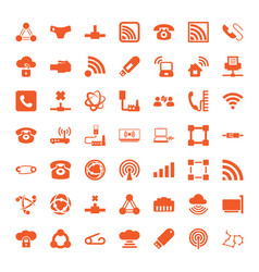 49 connect icons vector image