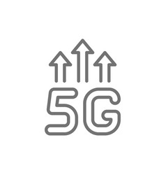 5g wireless internet line icon isolated on white vector image