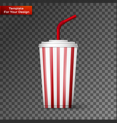 a soda fountain drink vector image