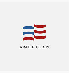abstract simple united states america flag usa vector image