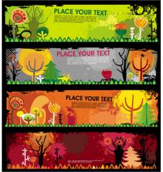 autumn grunge banners vector image