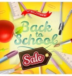 Back to School Sale Design EPS 10 vector