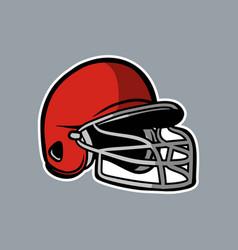 Baseball red helmet logo icon asset vector