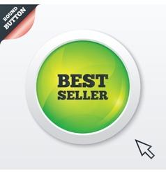 Best seller sign icon Best seller award symbol vector image