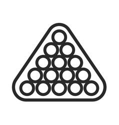 billiards game hoband entertainment black icon vector image