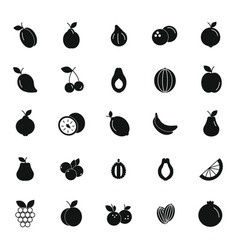 black fruits set vector image