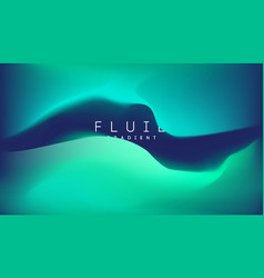blue gradient fluid background fluid colors 3d vector image