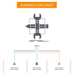 Build design develop sketch tools business flow vector