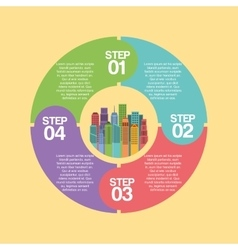 buildings infographic city presentation vector image