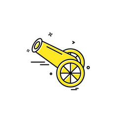 cannon icon design vector image