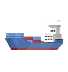 Cargo vessel icon vector