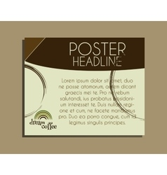 Coffee brand identity banner Fresh roasted and vector image