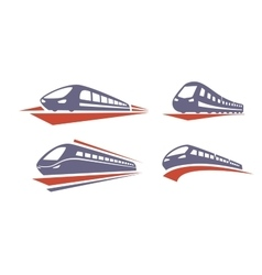 color Train icons vector image