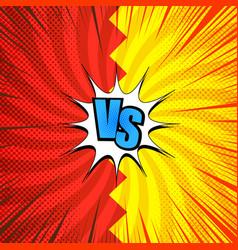 comic vs concept vector image
