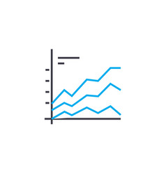 Comparative chart thin line stroke icon vector