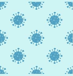 corona virus 2019-ncov seamless pattern vector image
