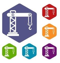 Crane icons set vector image