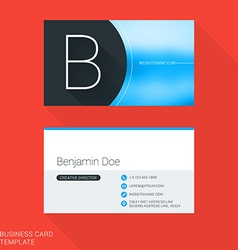 Creative Business Card Template Letter B Flat vector