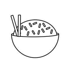 delicious rice food vector image