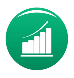 diagram icon green vector image