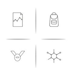Education simple linear icon setsimple outline vector