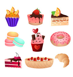 favorite delicacy of any girl and child on the day vector image