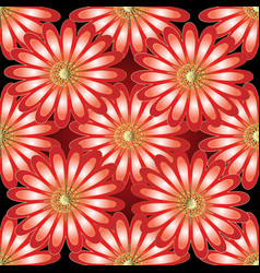 floral 3d seamless pattern vector image