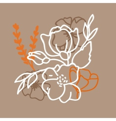 Flower hand-drawn sketch for your design vector